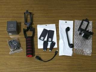 DJI Spark Original Propeller, PGYTECH Lens protector, OTG Cable, Controller protector , Controller phone holder, camera grip , landyard,