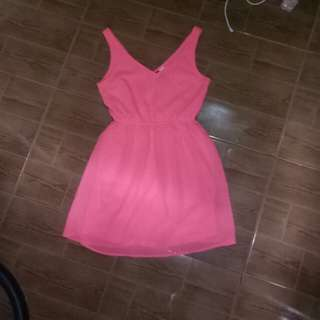 H&M divided neon pink dress