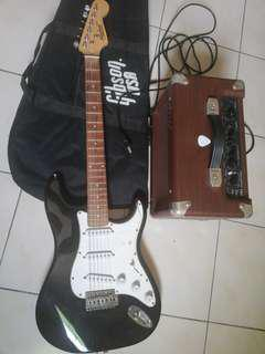 BRAND NEW ELECTRIC GUITER AND SPEAKER