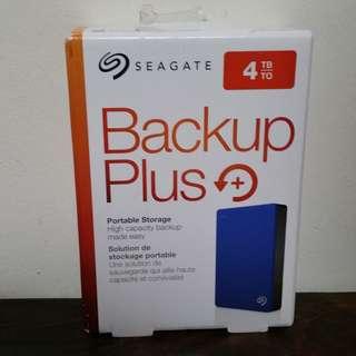 "Seagate New 4TB backup plus portable hard disk drive HDD 2.5"" USB 3.0"