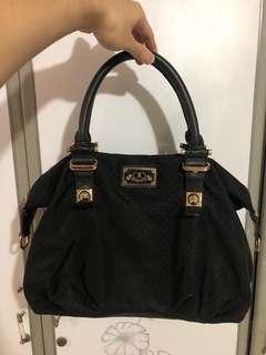Black Polkadot Bag