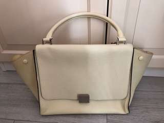 Celine Trapeze in beige leather and suede  bag