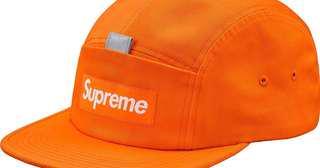 supreme reflective tab pocket camp cap