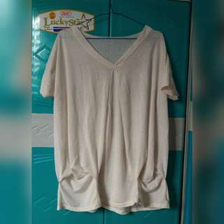 Plus Size Cream Top