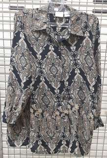 Studio C Batik Blouse Size L to XL