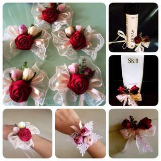 Handmade Bridesmaids Flower Barcelet