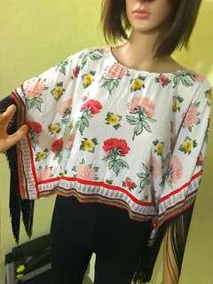 H&M Coachella Floral Blouse XS-M