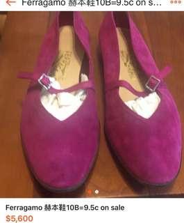 🚚 Ferragamo 赫本鞋 10b=9.5c