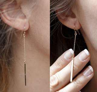 Gold Plated Drop Korean Earrings