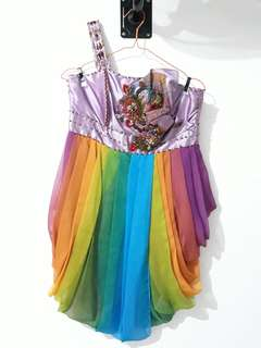 Luire rainbow dress