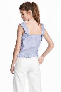 H&M ruffled straps top