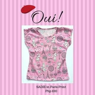 SADIE TEE SHIRT IN PARIS PRINT