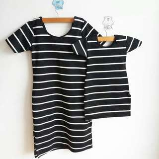 Mother and Daughter Terno stripe dress