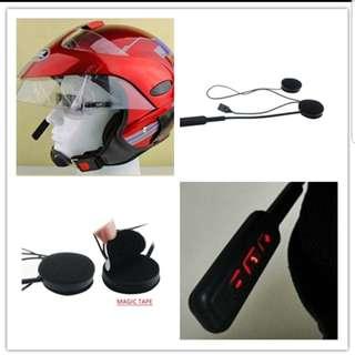 Helmet bluetooth intercom