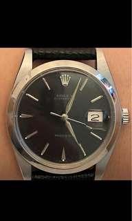 Rolex Oysterdate ref. 6694 古董 黑色面銀針 (原裝)