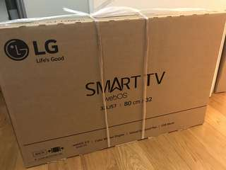 LG smart TV 32LJ570B brand new, just got it on 14 Jun 2018