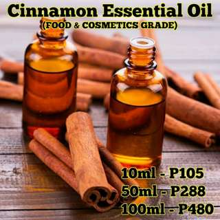 Cinnamon Essential Oil - FOOD & COSMETICS GRADE