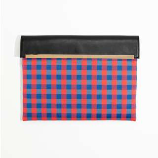 瑞典設計/歐洲質感服飾品牌&OTHER STORIES Large Gingham Clutch/英國代購