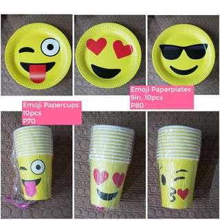 Emoji paper plate paper cup