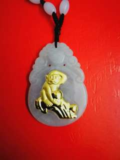 Collectible Lucky Emerald Pendant Crafted with God of the Golden Monkey
