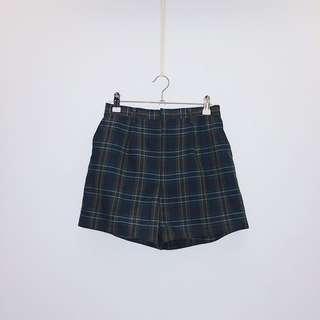 綠格 日本製 羊毛紡 日本古着 vintage