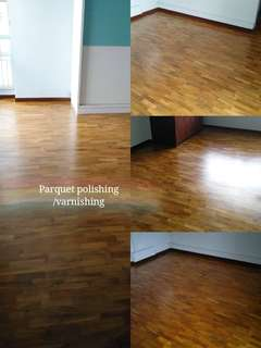 Paquet and marble floor polishing