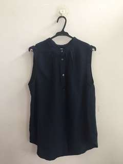 Navy Blue Sleeveless Shirt