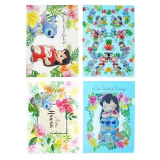 JAPAN DISNEYSTORE, JAPAN IMPORTED: File Set Series: 4 PC Stitch Day 2018  Summer Lilo & Stitch frienship  File set
