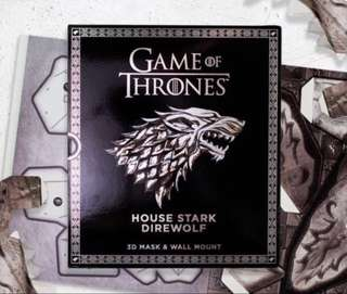 [NEW, SEALED] Game Of Thrones Mask and Wall Mount: House Stark Direwolf