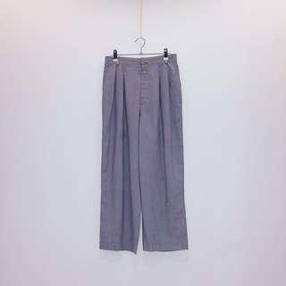 灰  直筒寬褲 日本製   古着 vintage