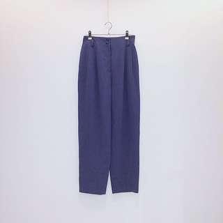 PINORE  深藍   麻混紡  小錐形  日本古着 vintage