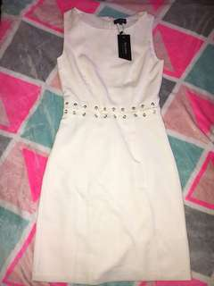 Zalora White Lace Up Dress