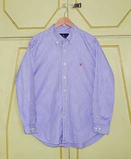 Authentic Ralph Lauren Striped LS Button Down Shirt