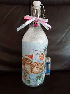 Decoupage Bottle Light
