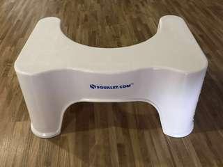 Elevated toilet step up stool anti slip