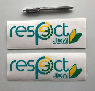 Respect JDM sticker