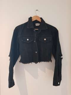 Cropped denim jacket XS