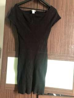 H&M 露肩小性感 洋裝