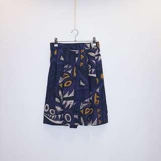 紫黃  褲裙  日本古着 Vintage