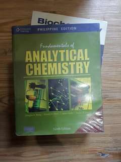 FREE SHIPPING Fundamentals of Analytical Chemistry by Skoog