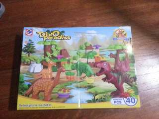 Brand new Dino Dinosaur Jurassic play set 40pcs compatible with Lego Duplo