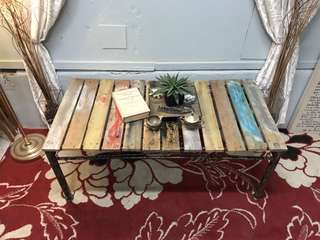 Coffee Table with recycled timber panels