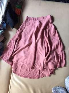 Rok Pink (Selutut)/ Pink Skirt