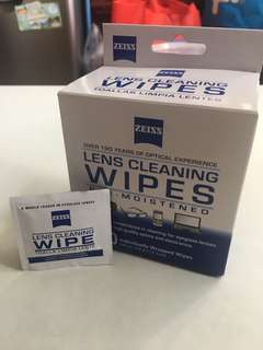 Zeiss lens cleaning wipes( 適用於 眼鏡 電腦 相機 電話)
