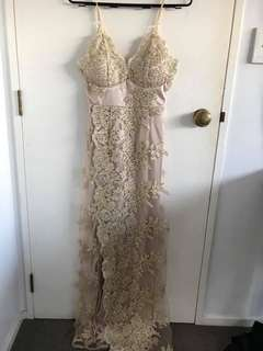 Rose Gold Ball Dress size 6
