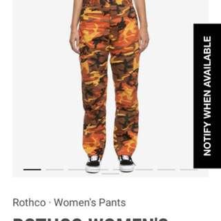 Culture kings orange camo pants