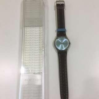 Swatch 啡色雙缐錶帶手錶