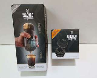 100%全新Nanopresso咖啡壺連咖啡膠囊轉接頭配件套裝