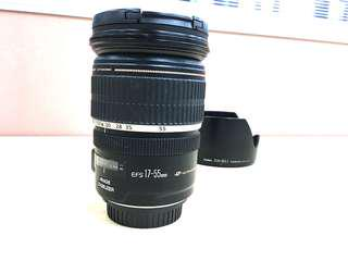 Canon 17 55 f2.8 with lens hood + Kase UV filter