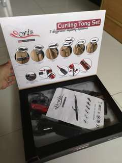 Curling tong set